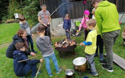 Kastanienwanderung der Familiengruppe